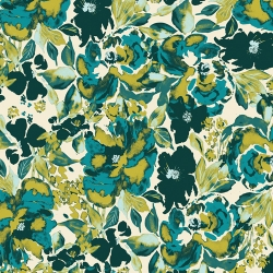 Dressing Room Teal fabric by Bari J for Art Gallery Fabrics sold by Online Canadian Fabric Store Woven Modern Fabric Gallery