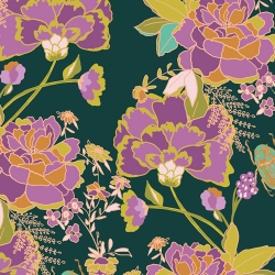 Greet the Guests Vert fabric by Bari J for Art Gallery Fabrics sold by Online Canadian Fabric Store Woven Modern Fabric Gallery