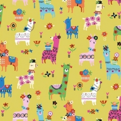 Fiesta Llamas from Dashwood Studios sold by Online Canadian Fabric Store Woven Modern Fabric Gallery