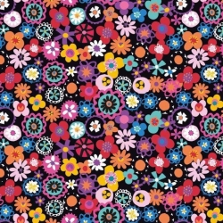 Fiesta Flowers from Dashwood Studios sold by Online Canadian Fabric Store Woven Modern Fabric Gallery