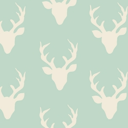 Buck forest Mint  Art Galley Fabrics sold by Online Canadian Fabric Store Woven Modern Fabric Gallery