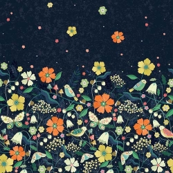 Night Meadow Boarder from Dashwood Studios sold by Online Canadian Fabric Store Woven Modern Fabric Gallery