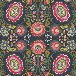 Khokhloma Gloom Art Gallery Fabrics sold by Online Canadian Fabric Store Woven Modern Fabric Gallery
