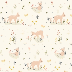 Little Deer Organic Double Guaze cotton by Birch Fabrics sold by Online Canadian Fabric Store Woven Modern Fabric Gallery
