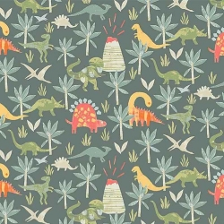 Jurassic Forest  fabric from Dear Stella  sold by Online Canadian Fabric Store Woven Modern Fabric Gallery
