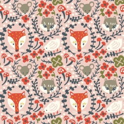 Folk Friends Organic Cotton by Birch Fabrics sold by Online Canadian Fabric Store Woven Modern Fabric Gallery