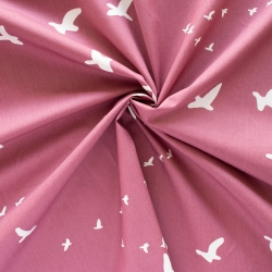 Flight Deco Rose organic fabric form Birch Fabrics sold by Online Canadian Fabric Store Woven Modern Fabric Gallery