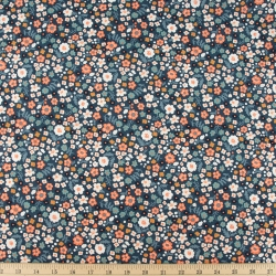 Bella organic cotton lawn Petite Denim from Birch Fabrics sold by Online Canadian Fabric Store Woven Modern Fabric Gallery