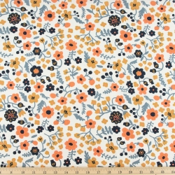 Bella organic cotton lawn Margot Cream from Birch Fabrics sold by Online Canadian Fabric Store Woven Modern Fabric Gallery