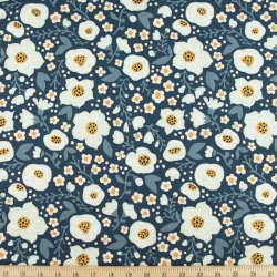 Bella organic cotton lawn Denim from Birch Fabrics sold by Online Canadian Fabric Store Woven Modern Fabric Gallery