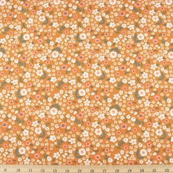Bella organic cotton lawn Petite Caramel from Birch Fabrics sold by Online Canadian Fabric Store Woven Modern Fabric Gallery