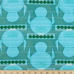 Manatee Stagger Organic fabric by Charley Harper for Birch Fabrics sold by Online Canadian Fabric Store Woven Modern Fabric Gallery