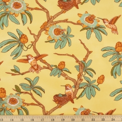 Passion Tan Organic Fabric byMustard Beetle from Birch Fabrics sold by Online Canadian Fabric Store Woven Modern Fabric Gallery