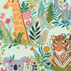 Our Planet Animals Day fabric from Dashwood Studios  sold by Online Canadian Fabric Store Woven Modern Fabric Gallery