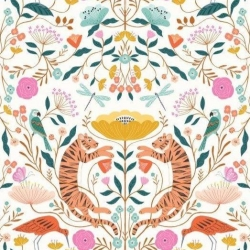 Our Planet Tiger Day fabric from Dashwood Studios  sold by Online Canadian Fabric Store Woven Modern Fabric Gallery