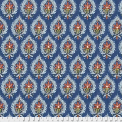 Kamala Indigo sold by Online Canadian Fabric Store Woven Modern Fabric Gallery