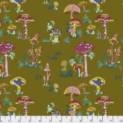 Beautiful Mushrooms Army by Nathalie Lete for Anna Maria's Conservatory sold by Online Canadian Fabric Store Woven Modern Fabric Gallery