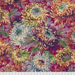 Shaggy Wine fabric from Kaffe Fassett sold by Online Canadian Fabric Store Woven Modern Fabric Gallery
