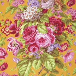 Floral Delight Yellow by Kaffe Fassett sold by Online Canadian Fabric Store Woven Modern Fabric Gallery