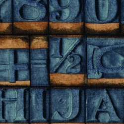 Stamps Blue by Tim Holtz sold by Online Canadian Fabric Store Woven Modern Fabric Gallery
