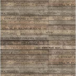 Ruler Brown by Tim Holtz sold by Online Canadian Fabric Store Woven Modern Fabric Gallery