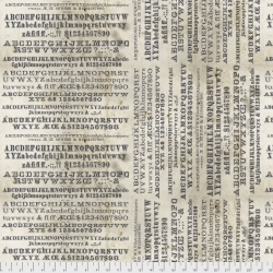 Typography Neutral by Tim Holtz sold by Online Canadian Fabric Store Woven Modern Fabric Gallery