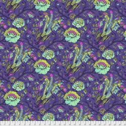 Tail Feathers Iris  from Tula Pink's All Star collection  sold by Online Canadian Fabric Store Woven Modern Fabric Gallery
