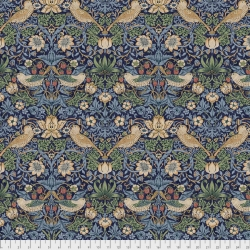 Strawberry Thief Navy  by Morris & Co sold by Online Canadian Fabric Store Woven Modern Fabric Gallery