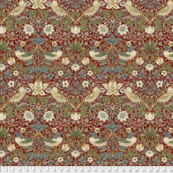 Strawberry Thief Red by Morris & Co sold by Online Canadian Fabric Store Woven Modern Fabric Gallery