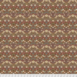 Mini Strawberry Thief Red  by Morris & Co sold by Online Canadian Fabric Store Woven Modern Fabric Gallery