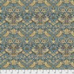 Mini Strawberry Thief Teal by Morris & Co sold by Online Canadian Fabric Store Woven Modern Fabric Gallery