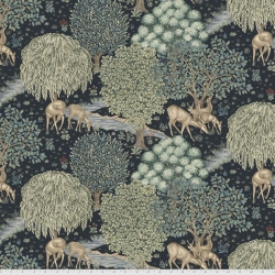 The Brook indigo fabric by Morris & Co sold by Online Canadian Fabric Store Woven Modern Fabric Gallery