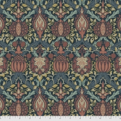 Granada indigo fabric by Morris & Co sold by Online Canadian Fabric Store Woven Modern Fabric Gallery