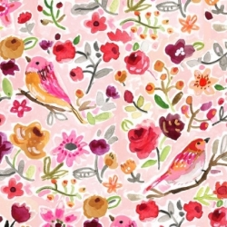 Parisian Birds by august wren for Dear Stella Fabrics for sale at canadian online fabric shop Woven Modern Fabric Gallery