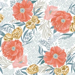 Poppy Prairie  Poppies by Dear Stella Fabrics sold by Online Canadian Fabric Store Woven Modern Fabric Gallery