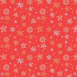 Snowflakes Red from Dashwood Studios sold by Online Canadian Fabric Store Woven Modern Fabric Gallery