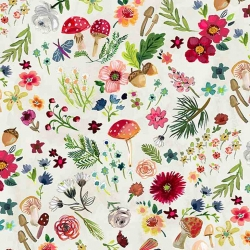 Mushroom Foliage by August Wren for Dear Stella Fabrics sold by Online Canadian Fabric Store Woven Modern Fabric Gallery