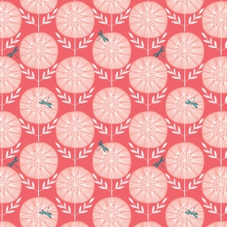 Dragonfly Flowers  from Dashwood Studios sold by Online Canadian Fabric Store Woven Modern Fabric Gallery