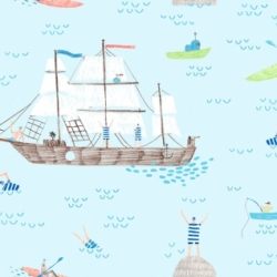 Ahoy Matey by Dear Stella Fabrics sold by Online Canadian Fabric Store Woven Modern Fabric Gallery