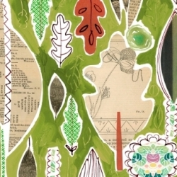 Leaf Collage by August Wren for Dear Stella  Fabrics sold by Online Canadian Fabric Store Woven Modern Fabric Gallery