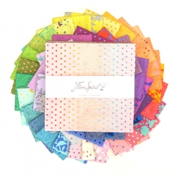"""True Colors 10"""" charm pack by Tula Pink sold by Online Canadian Fabric Store Woven Modern Fabric Gallery"""