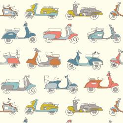 Mopeds Organic by Birch Fabrics sold by Online Canadian Fabric Store Woven Modern Fabric Gallery