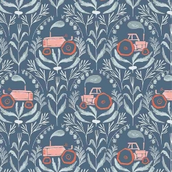 Poppy Prairie  Tractors by Dear Stella Fabrics sold by Online Canadian Fabric Store Woven Modern Fabric Gallery
