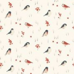 Love Birds Organic Knit Cotton by Birch Fabrics sold by Online Canadian Fabric Store Woven Modern Fabric Gallery