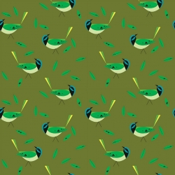 Green Jay Organic by Charley Harper for Birch Fabrics sold by Online Canadian Fabric Store Woven Modern Fabric Gallery