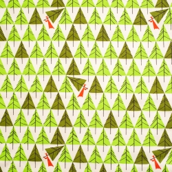 Geo Trees organic knit fabric from Birch Fabrics sold by Online Canadian Fabric Store Woven Modern Fabric Gallery