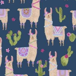 no Cause for a Llama  from Dear Stella Fabrics sold by Online Canadian Fabric Store Woven Modern Fabric Gallery