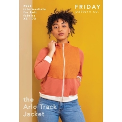 The Arlo Track Jacket Pattern by Friday Pattern Co. sold by Online Canadian Fabric Store Woven Modern Fabric Gallery