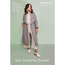 The Cambria Duster Pattern by Friday Pattern Co. sold by Online Canadian Fabric Store Woven Modern Fabric Gallery