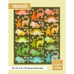 Dinosaurs Quilt Pattern by Elizabeth Hartman sold by Online Canadian Fabric Store Woven Modern Fabric Gallery